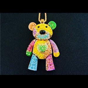 Beautiful crystal Bear necklace!